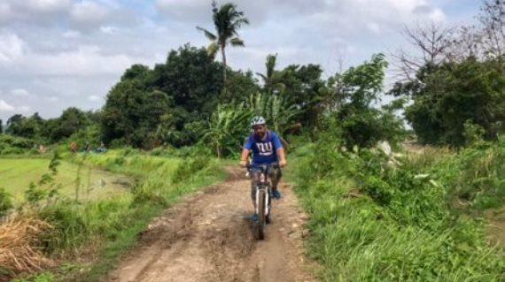 Cycling around village