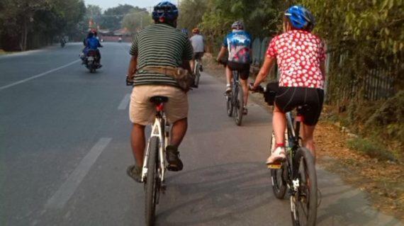 Cycling in Mandalay